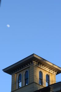 The Homestead's cupola and the moon
