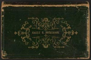 A Bible with Emily Dickinson's name on it, a gift from Dickinson's father
