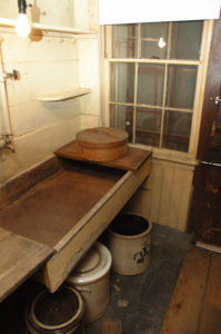 The washroom in the Kitchen at the Evergreens where the domestic servants worked