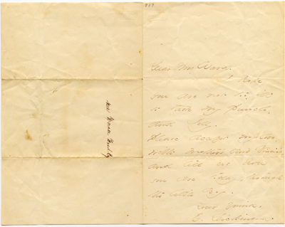 A Letter from Dickinson to Mrs. Ward