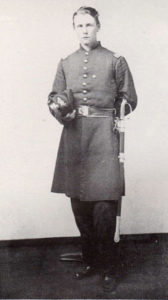 A portrait of Frazar Stearns in uniform, before he was killed in the Civil War