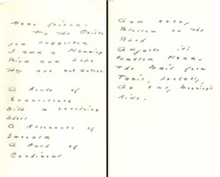 Letter from Dickinson to author Helen Hunt Jackson