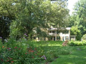 Homestead as seen from the Dickinson garden
