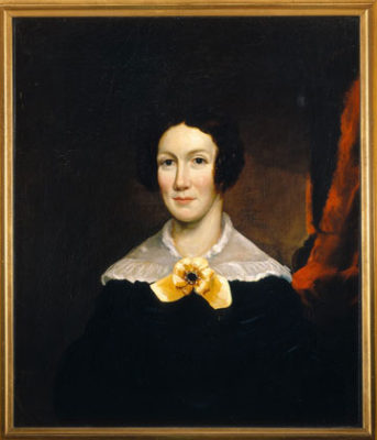 An oil painted portrait of Emily Norcross Dickinson