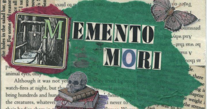 Postcard with memento mori collage