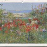 Color postcard of painted Isles of Shoals, Maine