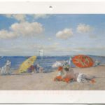 Postcard of oil on canvas depicting seaside, William Merritt Chase