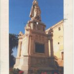 Color postcard with statue of Eleonora d' Arborea