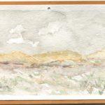 Color postcard of watercolor landscape
