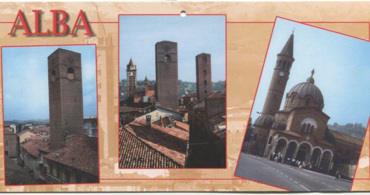 Color postcard of Alba, Italy