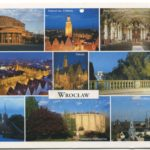 Color postcard of Wroclaw landmarks