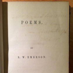 title page of Ralph Waldo Emerson's book of poems
