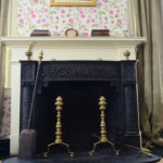 Fireplace in Emily Dickinson's bedroom