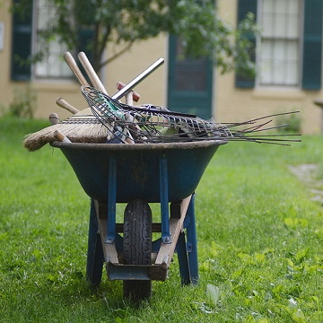 a wheelbarrow for garden days