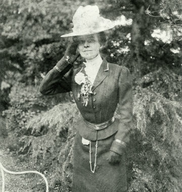 Martha Dickinson Bianchi in garden