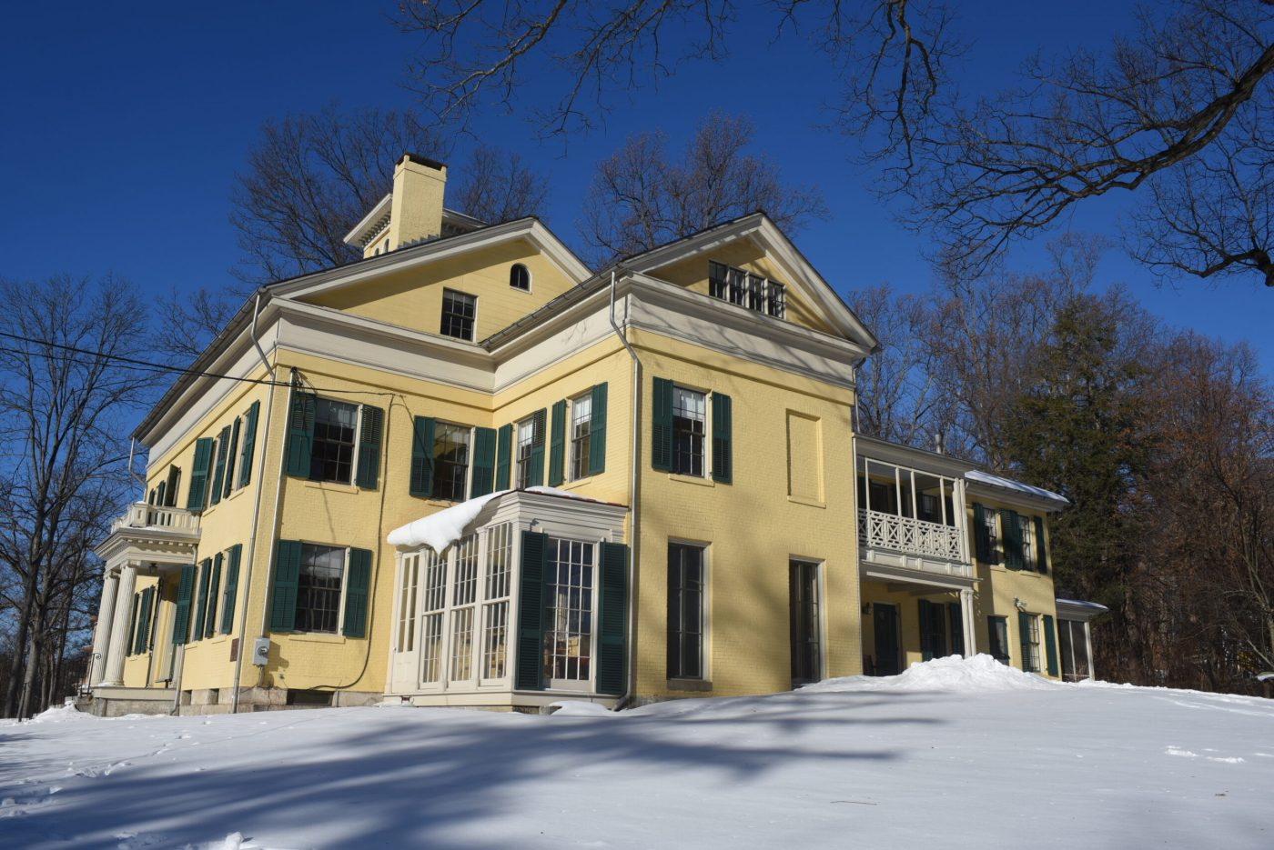 Homestead in the snow